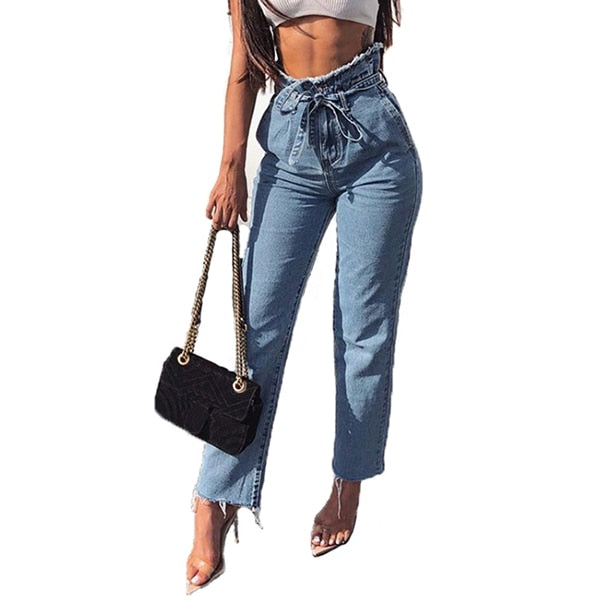 New 2018 Spring Summer Stretchy Blue Hole Ripped Jeans Woman Denim Pants Trousers For Women Pencil Skinny Jeans Autumn Plus Size-geekbuyig