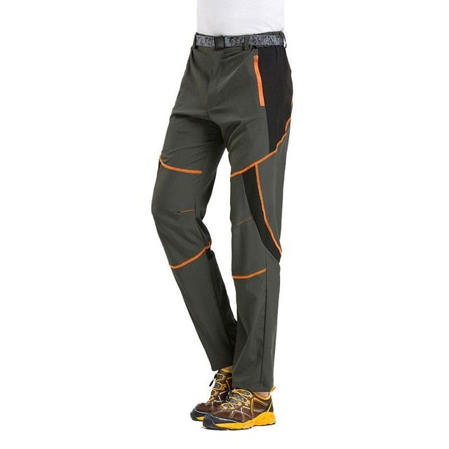 Mens Waterproof Lightweight Quick Dry Cargo Pants UV Protective Outdoors Camping Hiking Elastic Stretch Work Casual Trousers-geekbuyig