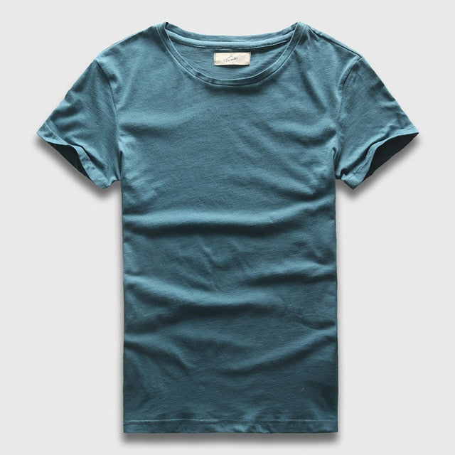 Zecmos 2017 Slim Fit V-Neck T-Shirt Men Basic Plain T Shirt Male Clothes Solid Cotton Top Tees Short Sleeve Fashion-geekbuyig
