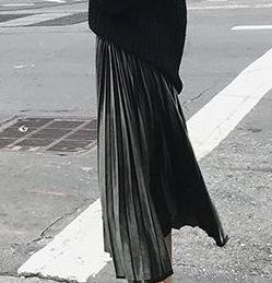 2018 11 11 New Autumn And Winter High Waisted Skinny Female Velvet Skirt Pleated Skirts Pleated Skirt Free Shipping-geekbuyig