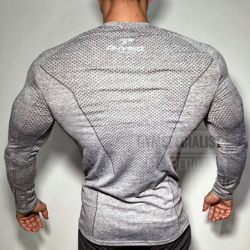 2018 Autumn New Men Long sleeve Tight T-shirt Man Jogger Workout Quick dry t shirt Male Tees Tops Gyms Fitness Brand Clothing-geekbuyig