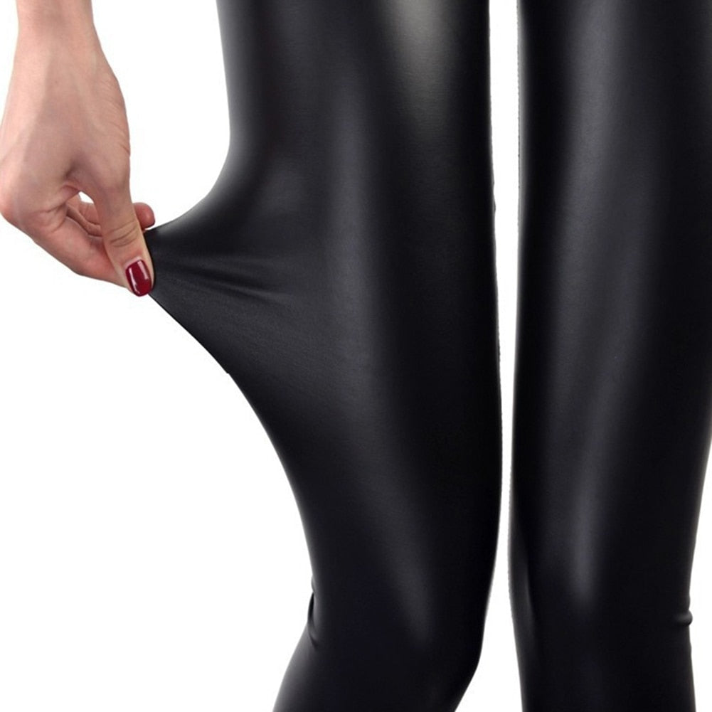 Faux Leather Leggings Navy Blue Sexy Women Leggins Thin Black Leggings Calzas Mujer Leggins Leggings Stretchy Leggins Push Up-geekbuyig
