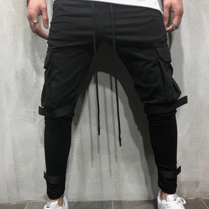 2018 Brand Men Pants Hip Hop Harem Joggers Pants 2018 Male Trousers Mens Joggers Solid Multi-pocket Pants Sweatpants 3XL-geekbuyig