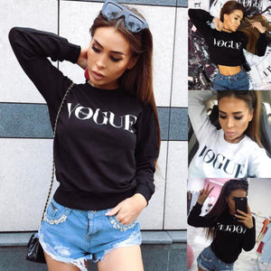 Fashion Women Tops Long Sleeve shirt Casual T-Shirt Cotton Vogue SEXY-geekbuyig
