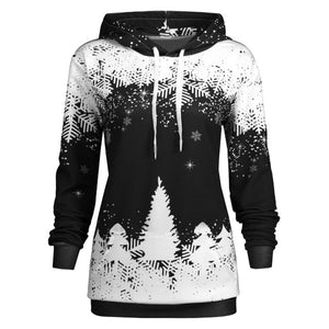 Hoody Sweatshirt Women Harajuku Streetwear Christmas Print Hoodie 2018 Autumn Kawaii Women Fashion Kpop Clothes-geekbuyig