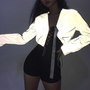 Macheda New Sexy Spring Autumn Women Solid Jackets Fashion Basic Bomber Jacket Long Sleeve Coat Casual Slim Fit Outerwear-geekbuyig