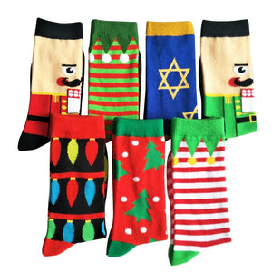 1 Pair Winter High Quality Christmas Style Weed Socks Men Combed Cotton Hip Hop Socks Meias Men Funny Art Dress Socks Calcetines-geekbuyig