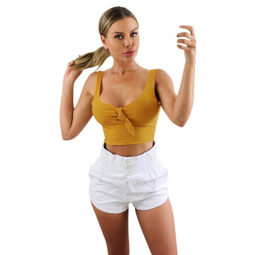 feitong crop tops women 2018 black white short crop tops sexy tanks tops female sleeveless loose tank top women summer cropped-geekbuyig