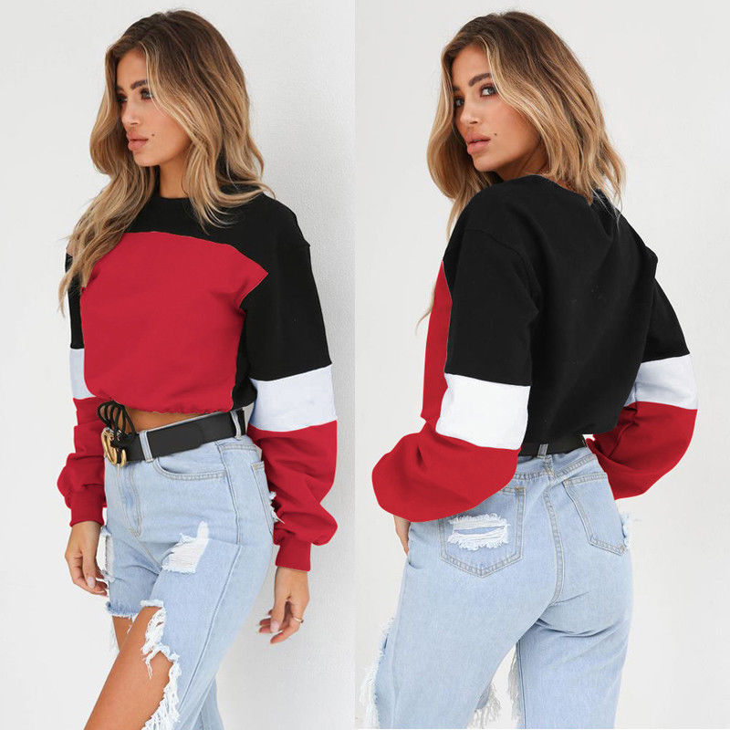 Harajuku Women Sweatshirt Crop Top Hoodies Fashion Women Clothes Bts Hoodie Women Steetwear Coloring Outfits 2018-geekbuyig
