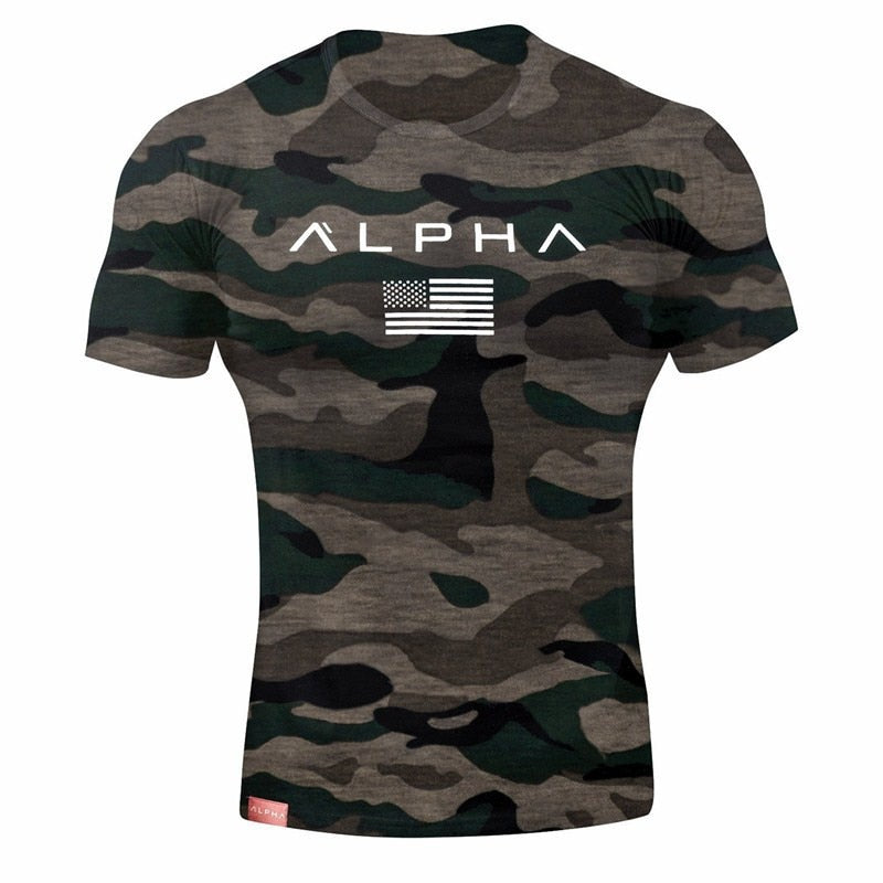 2019 Men Brand Gyms T Shirt Camouflage Bodybuilding Breathable Fit Cotton Shirts Men Short Sleeve Workout Male Casual Tees Tops-geekbuyig