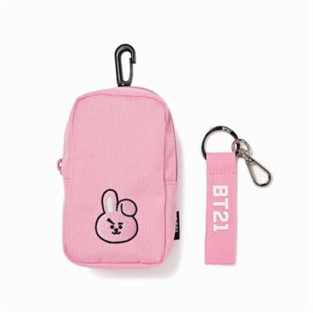 Kpophome for bangtan boys around BTS BT21 TATA CHIMMY COOKY same cute Coin Purse Waist Bag Pendant Card Holder Shoulder Pouch-geekbuyig