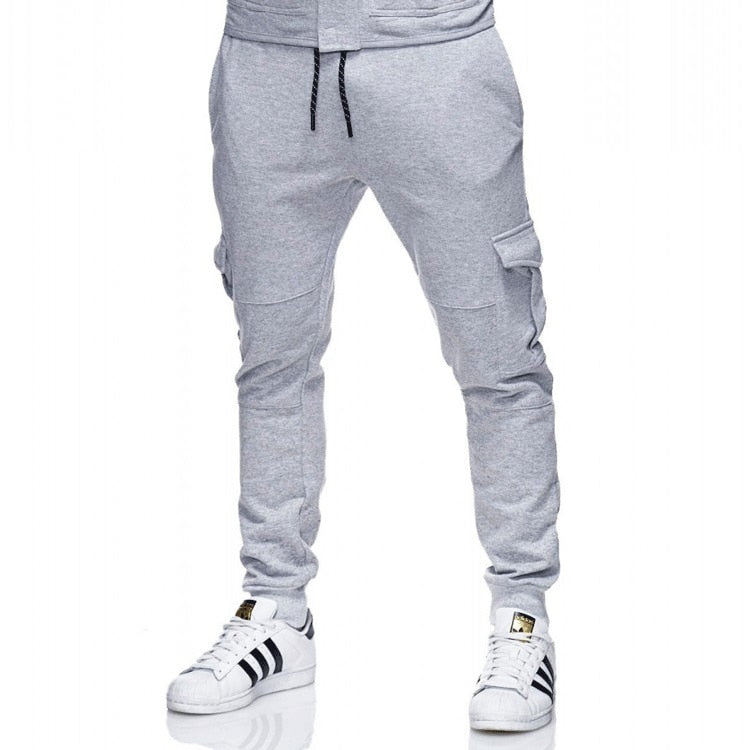 Men Pants 2018 New Fashions Joggers Pants Male Casual Sweatpants Bodybuilding Fitness Track Pants Men's Sweat Trousers Size 3XL-geekbuyig