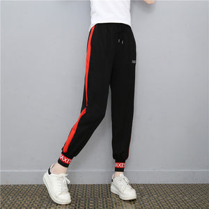 korean casual Sweatpants pencil pants women 2018 new aummer autumn black red harem pants harajuku plus size kpop trousers female-geekbuyig