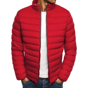 ZOGAA mens parkas colorful men winter jacket Casual puffer coat solid zipper overcoat streetwear men Simple coat clothes 2018-geekbuyig