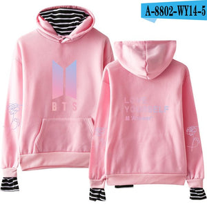 BTS Album Love Yourself Answer Fake Simple Two Piece Hoodies Sweatshirt Harajuku Women/Men Hip Hop Hoodies Oversized Clothes 4XL-geekbuyig