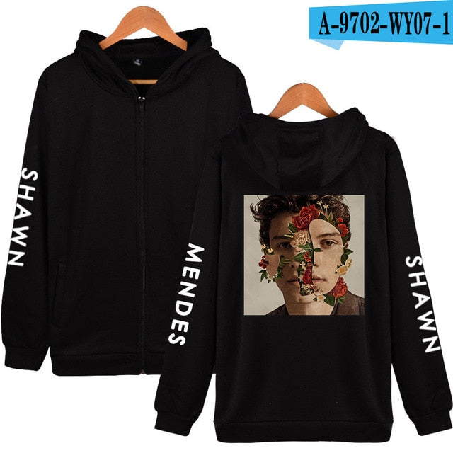 BTS Casual Harajuku Hoodies Kawaii Zipper Hoodies Sweatshirt Women/Men Fans Clothes 2018 Tops Hip Hop Shawn Mendes Plus Size 4XL-geekbuyig