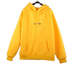 Oh Yes Letter Print Harajuku Casual Hoodies Sweatshirt Women 2018 New Winter Fleece Hooded Pullover Thick Loose Women 8L1040-geekbuyig