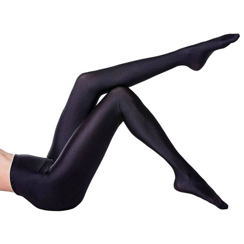 NEW Women Lustrous Black Leggings High Waist Pants Shaping Pants Leggings Chinlon High Stretch Legging L2-geekbuyig