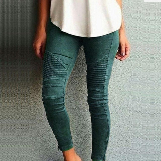 2018 New Fashion Women Pants Leisure Slim Pencil Pants Tight Elastic Pants Casual trousers Women Clothing Plus Size LJ5599R-geekbuyig