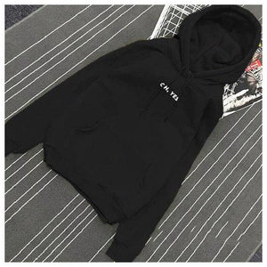2018 New Fashion Winter Fleece Pullover Thick Loose Women Hoodies Sweatshirt Female Letter Casual Coat Two Layers Hat-geekbuyig