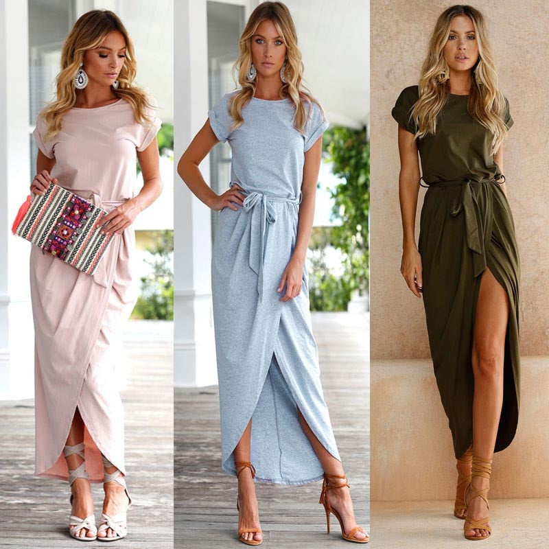 Women Dresses Boho Long Maxi Dress Evening Party Beach Dresses Sundress women dresses evening party H8-geekbuyig
