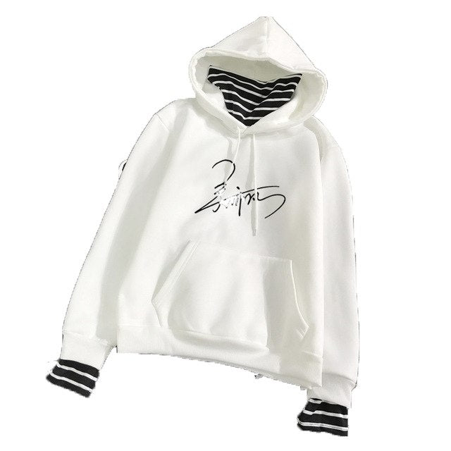 New Fashion Korean Style Sweatshirt for Women Exo Kpop Clothes Harajuku Casual Hoodies Letter Printed Bts Fleece Pullover Hooded-geekbuyig