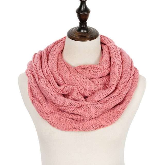 2018 Warm Infinity Winter Scarf Women Cashmere Knitted Scarf Lic For Women Scarves 2018 Fashion Snood Neck Scarf With Tag-geekbuyig