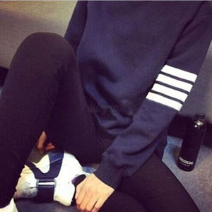 Patchwork Women Hoodies Sweatshirts Plus Size Korean Harajuku Tops Long Sleeve 2018 Loose Black Casual Pullovers Female **-geekbuyig