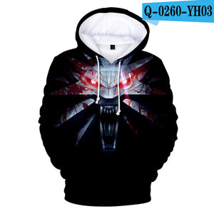 New Wizard 3 Garment 3D Print Hot Card Hoodie WiTCHer 3: Wild Garment Fashion Loose Men/Ladies Long Sleeved Loose Hoodie Q0903-geekbuyig