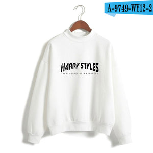 LUCKYFRIDAYF Harry Styles Treat People With Kindness Printed Sweatshirts Women/Men Turtleneck Long Sleeve Fashion Sweatshirts-geekbuyig
