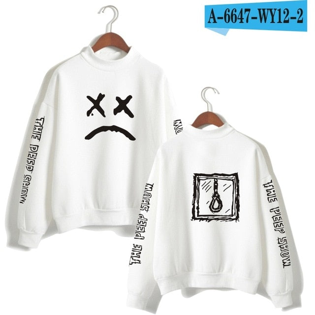 Lil Peep Sweatshirt Long Sleeved Pullover Tracksuit Antumn Fleece Turtleneck Hip Hop Hoodies Lil Peep-geekbuyig