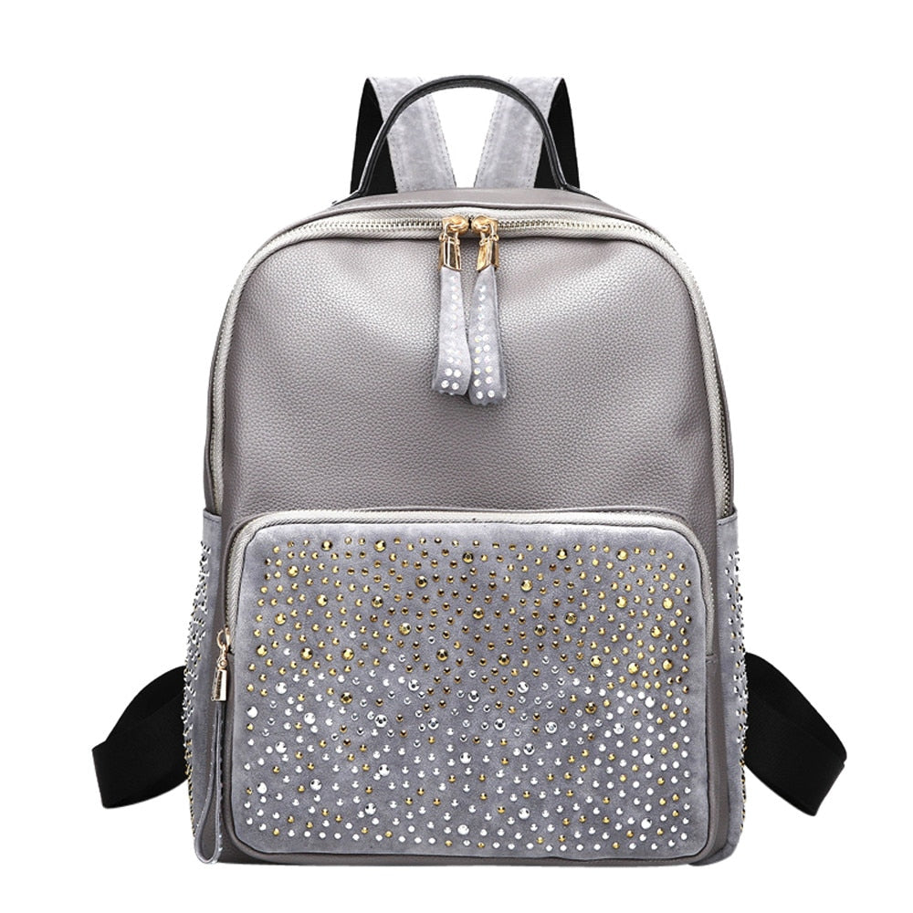 Ocardian backpacks fashion Rivet backpack female backpack schoolbags for teenager backpack antitheft JL 2650C-geekbuyig