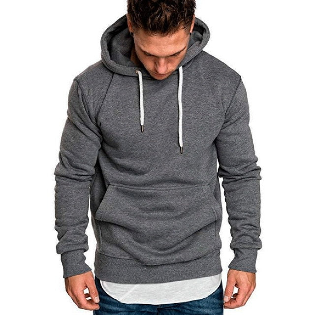 2018 Hot Autumn New Hoodies Sweatshirts Brand Male long Sleeve Top Solid Hoodie Pollovers Mens Black Red Big Size Poleron hombre-geekbuyig