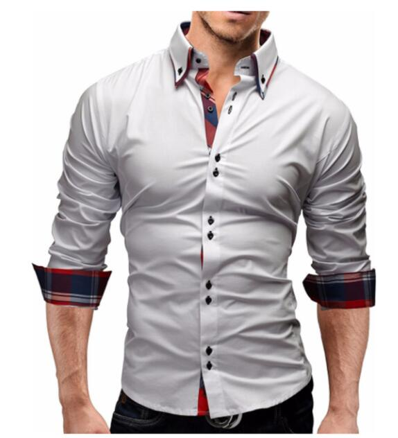 Men Shirt 2018 Spring New Brand Business Men'S Slim Fit Dress Shirt Male Long Sleeves Casual Shirt Camisa Masculina Size M-3XL-geekbuyig