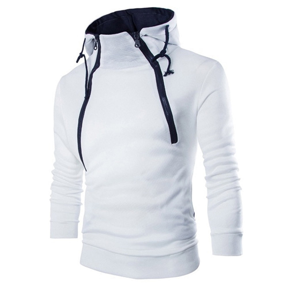 sweatshirt men 2018 hoodies brand male long sleeve patchwork hoodie zipper hoodie men white and black big size vetements-geekbuyig