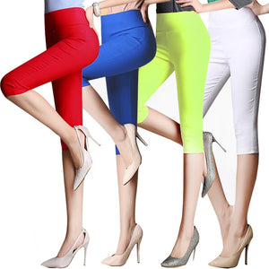 plus size 6XLCropped Cotton Leggings 3/4 pants knee length legging thermal breeches womens trousers casual Capris Pencil Pants-geekbuyig