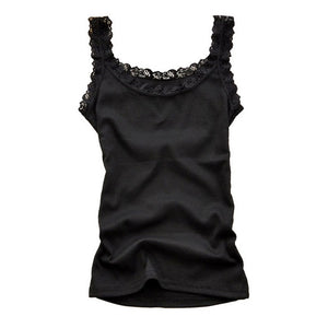 Women Sexy Tank Tops Sleeveless Bodycon Temperament T-shirt Vest Summer Fashion Lace Camisole Top-geekbuyig