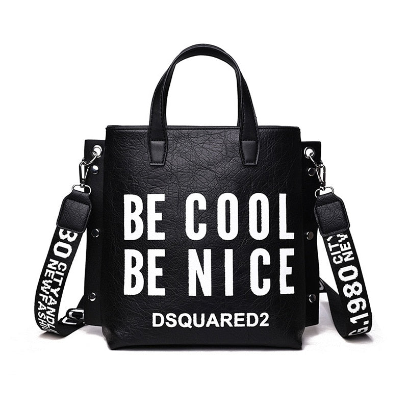 Female Designer Fashion Handbag Women Letter Soft Messenger Shoulder Bags Large Shopping Tote Ladies Crossbody Bag Purse SS7342-geekbuyig
