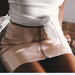 Fashion Women Hot Sale PU Leather Pencil High Waist Mini Short Skirt Stretch Party 5 Colors Size S-XL-geekbuyig