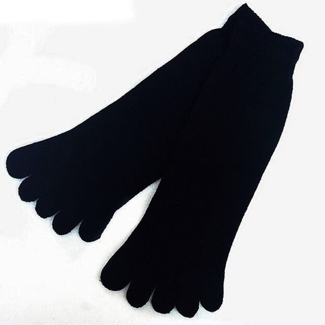 Top Sell Soft Fashion 1 Pair Winter Autumn Warm Comfortable Men Top Quality Women's Guy Five Finger Pure Soft Cotton Toe Socks-geekbuyig