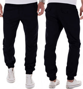 Mens Pants Casual 2018 Autumn Winter Male Cotton Solid Black Yellow Khaki Harem Pants Hip Hop joggers Trousers Streetwear-geekbuyig
