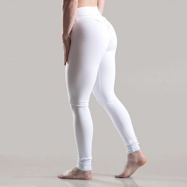 Fashion Breathable Solid High Waist Push Up Leggings Women Sexy Workout Legging Femme Highly Elastic Classic Trousers 7 Color-geekbuyig