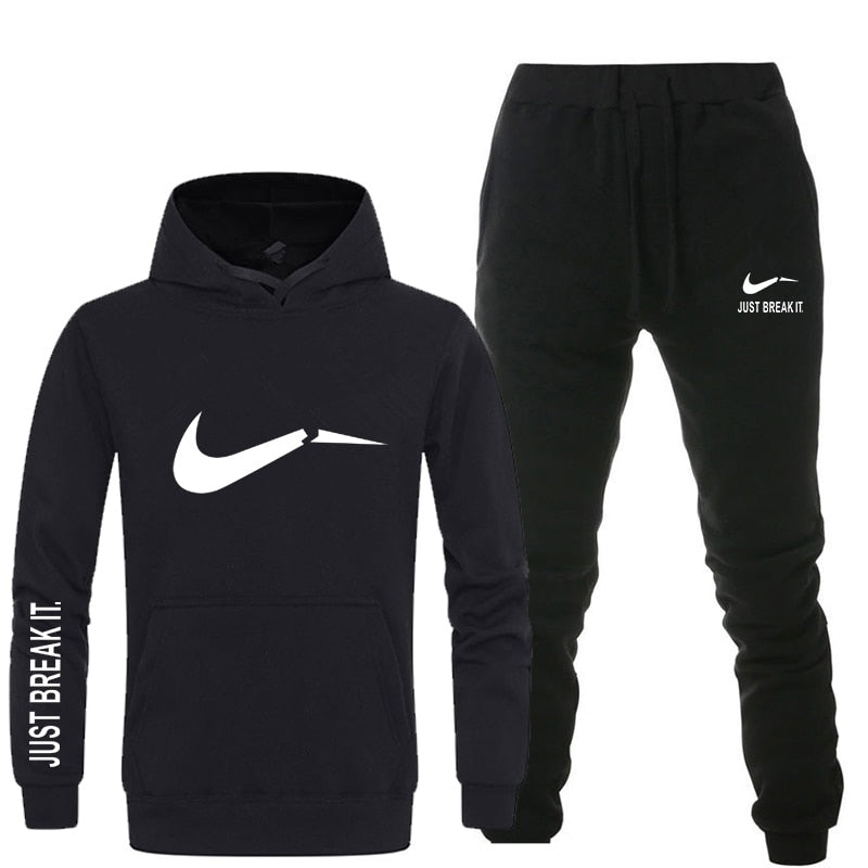 New 2018 Brand Tracksuit men thermal underwear Men Sportswear Sets Fleece Thick hoodie+Pants Sporting Suit Malechandal hombre-geekbuyig