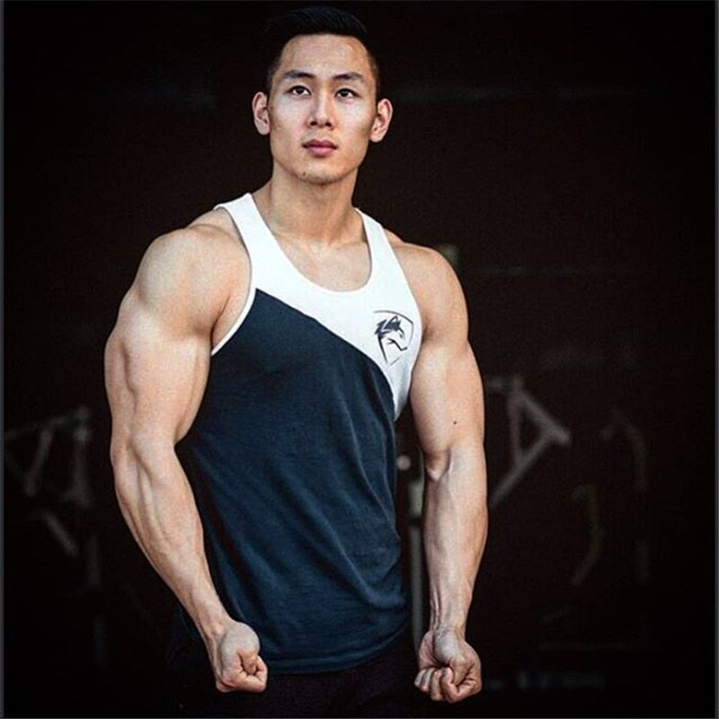 alphe New Mens Sleeveless Tank Tops alp Summer Cotton Male Tank Tops gyms Clothing Bodybuilding Undershirt Golds Fitness tan top-geekbuyig