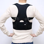 Male Female Adjustable Magnetic Posture Corrector Corset Back Men Black Brace Back Shoulder Belt Lumbar Support Straight S-4XL-geekbuyig