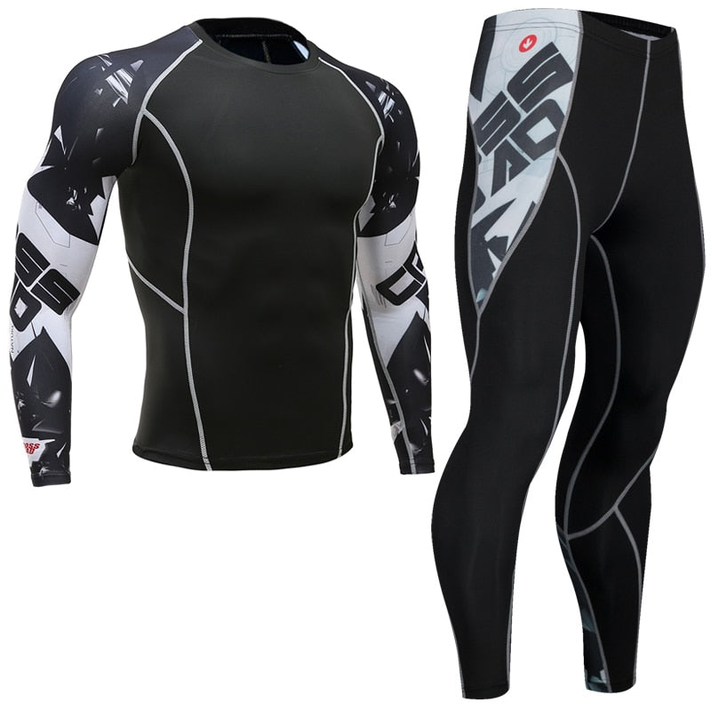 Top quality new thermal underwear men's underwear sets compression fleece sweat quick-drying thermal underwear men's clothing-geekbuyig