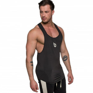 Bodybuilding Stringer Tank Top with hooded Mens Gyms Clothing Fitness Mens Sleeveless Vests Cotton Singlets Muscle Tankops-geekbuyig