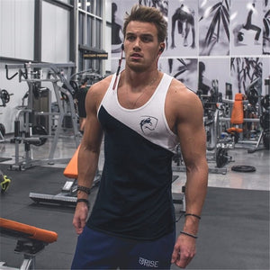 2018 New Mens Sleeveless Vest Summer Cotton Patchwork Male Tank Tops Gyms Clothing Bodybuilding Undershirt Fitness Tank Tops-geekbuyig