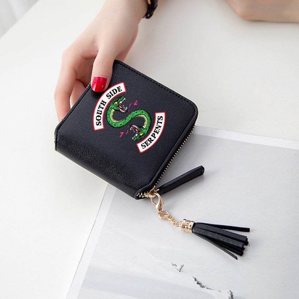 Frdun Tommy Riverdale Southside Wallets 3D Print Tassel wallet Women Mini Purse Accessories Short Zipper card Bags Lady Wallets-geekbuyig