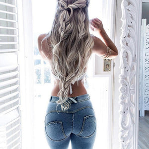 2018 Women Push Up Jeans Skinny Button Zipper Plus size clothing New Fashion Sexy Female Summer Autumn Winter Jeans Pencil Pants-geekbuyig